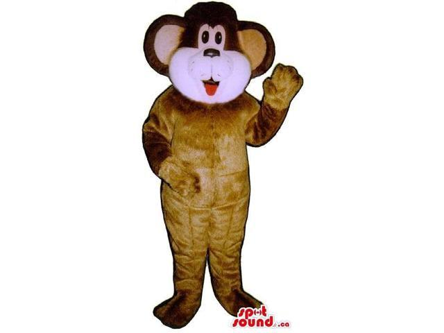 Brown Bear Plush Canadian SpotSound Mascot With Round Ears And White Face