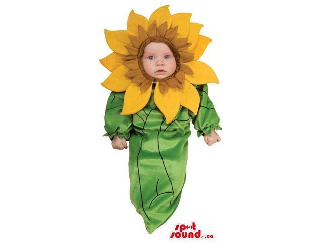 Sunflower Toddler Size Plush Costume With An Great Head Of Petals