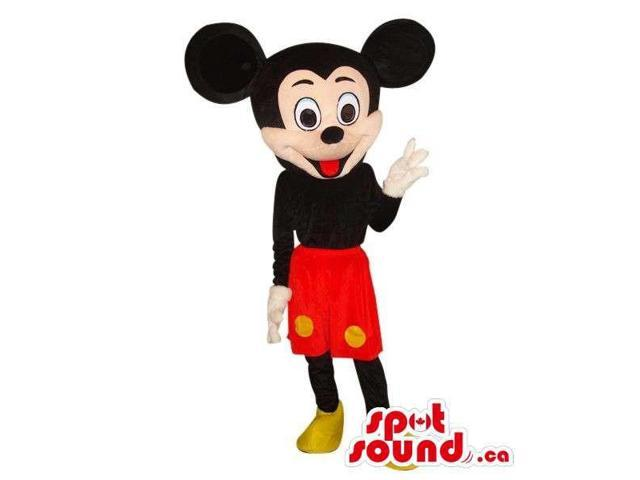 Mickey Mouse Disney Character Plush Canadian SpotSound Mascot Dressed In Red Shorts