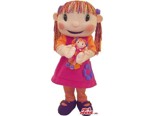 Girl Human Character Toy Canadian SpotSound Mascot With A Small Doll And Dress