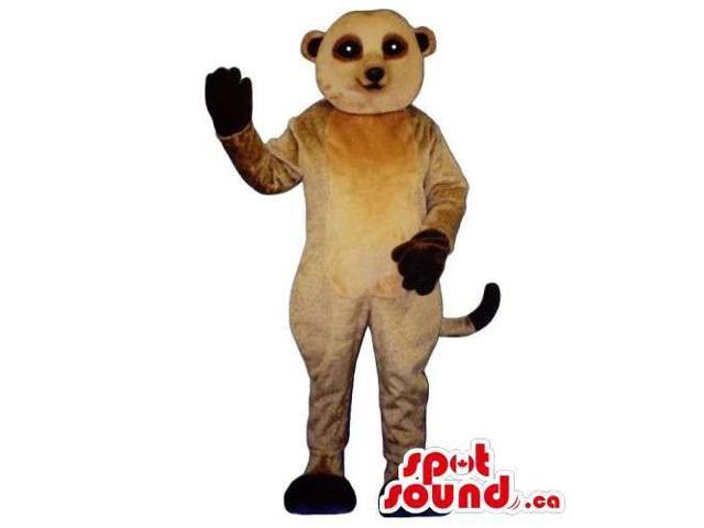 Customised Cute Brown Ferret Animal Pet Canadian SpotSound Mascot With Dark Paws