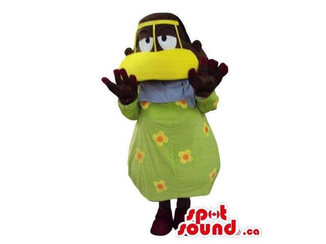 Peculiar Man Plush Canadian SpotSound Mascot Dressed In A Black Duck Disguise