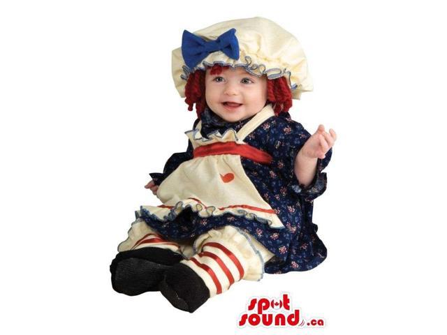 Doll Toy Toddler Size Costume With A Cute Dress And Hat