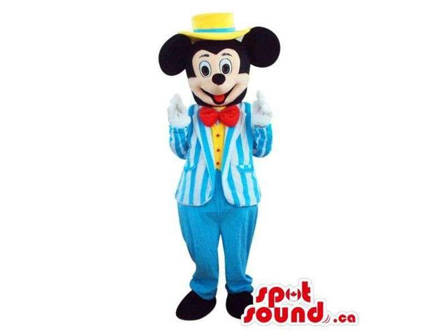 Mickey Mouse Disney Cartoon Character Plush Canadian SpotSound Mascot In A Jacket