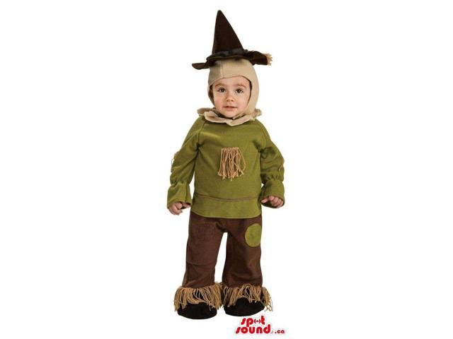 Scarecrow Wizard Of Oz Character Children Size Plush Costume