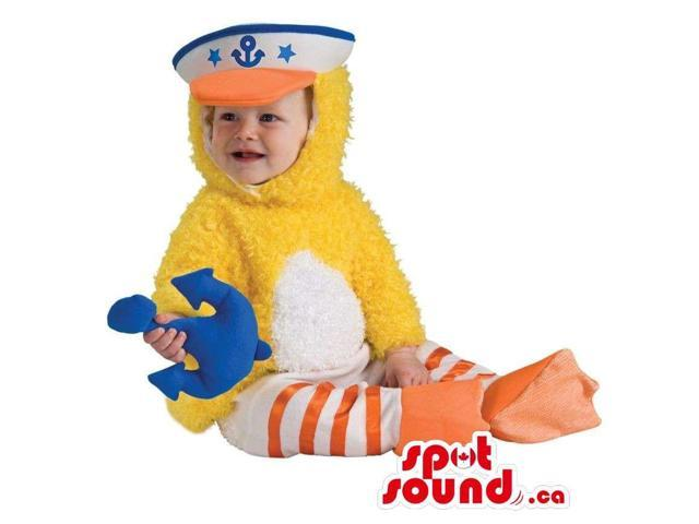Duck Toddler Size Plush Costume With A Sailor Hat And Anchor
