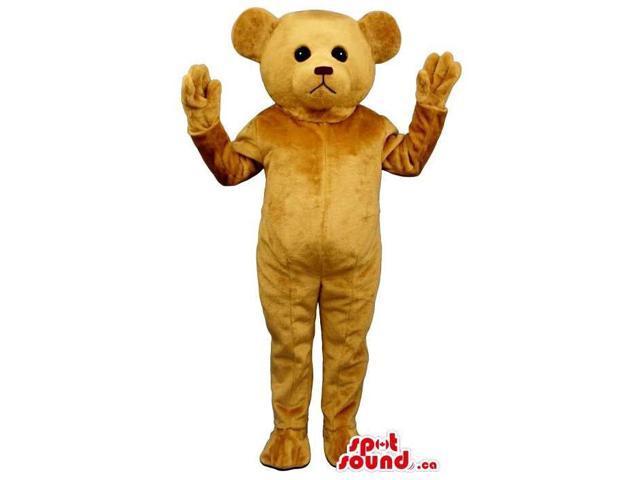 Standard Brown Teddy Bear Plush Canadian SpotSound Mascot With A Sad Face