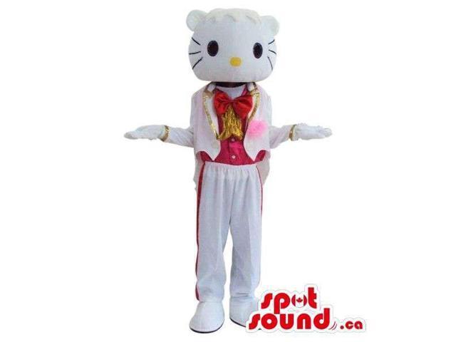 Kitty Boy Character Plush Canadian SpotSound Mascot With A Shinny Tuxedo
