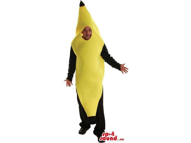 Cute Yellow Banana Fruit Character Adult Size Costume