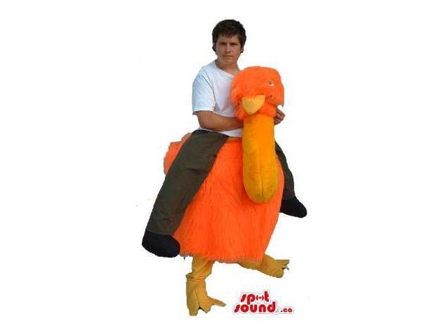 Great Orange Ostrich Walker Two-In-One Adult Size Costume