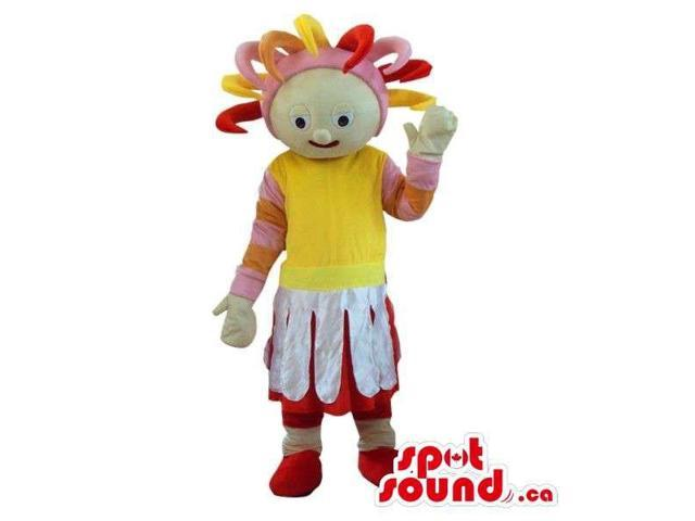 Cosmic Plush Canadian SpotSound Mascot Character Dressed In Flashy Clothes