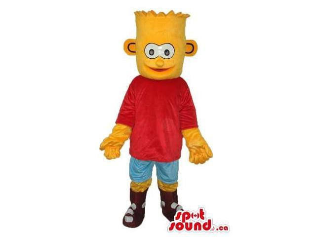 Bart Simpson Well-Known Cartoon Character Plush Canadian SpotSound Mascot