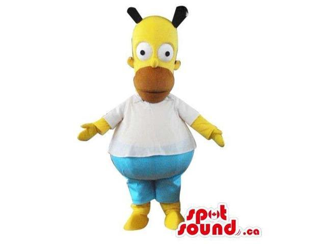 Homer Simpson Well-Known Yellow Cartoon Character Plush Canadian SpotSound Mascot