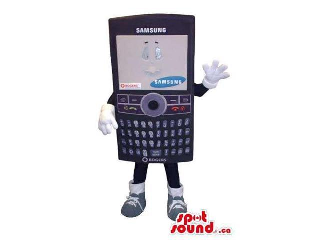 Samsung Brand Cell Phone Canadian SpotSound Mascot With Logo And Brand-Name