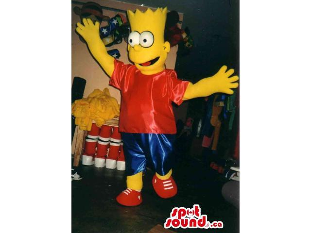 Bart Simpson Well-Known Cartoon Character Large Plush Canadian SpotSound Mascot