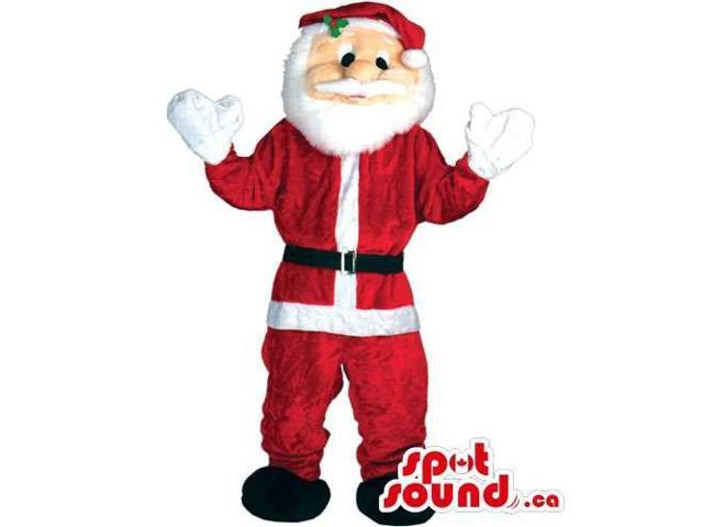 Santa Claus Human Character Canadian SpotSound Mascot With Special Clothes