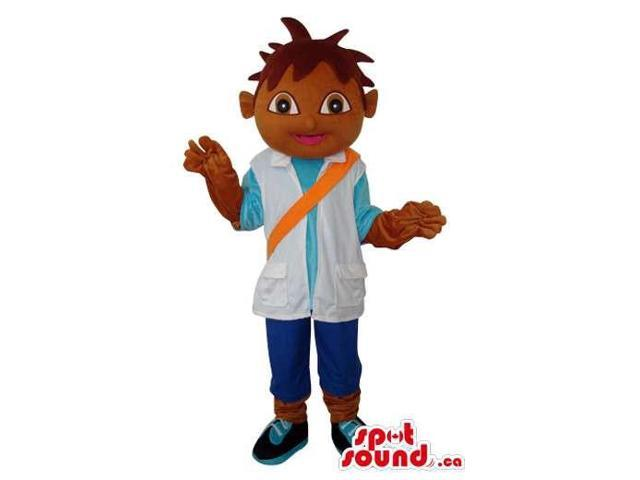 Dark Dora The Explorer Boy Well-Known Cartoon Character Canadian SpotSound Mascot