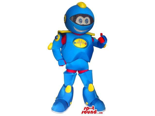 Great Large Blue And Yellow Cute Robot Toy Canadian SpotSound Mascot