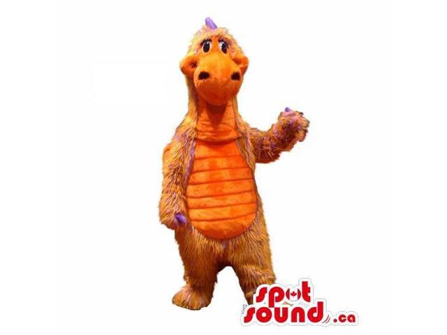 Customised All Red And Yellow Dragon Plush Canadian SpotSound Mascot With Large Dots