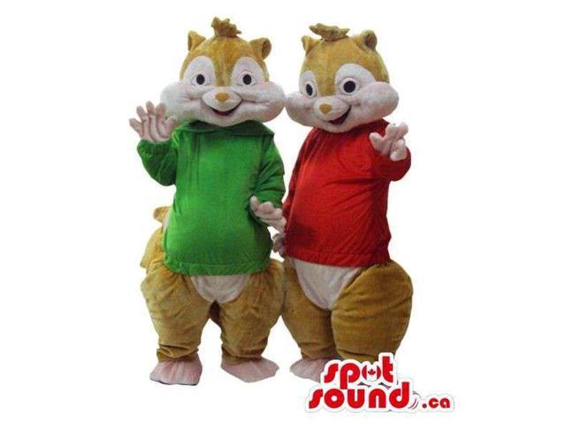 Cute Well-Known Chipmunk Cartoon Character Plush Canadian SpotSound Mascots