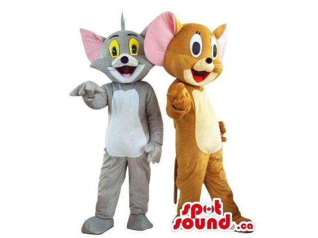 Cute Well-Known Tom And Jerry Cartoon Characters Plush Canadian SpotSound Mascots