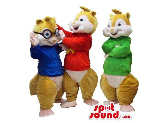 Cute Well-Known Chipmunk Cartoon Character Plush Canadian SpotSound Mascots