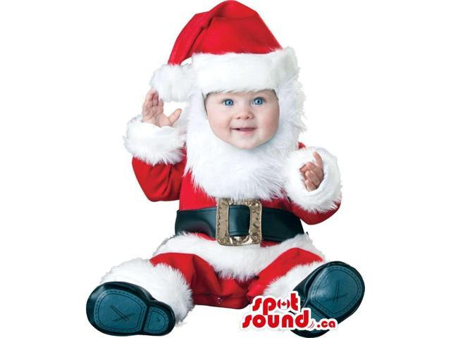 Cute Santa Claus Christmas Toddler Size Plush Costume