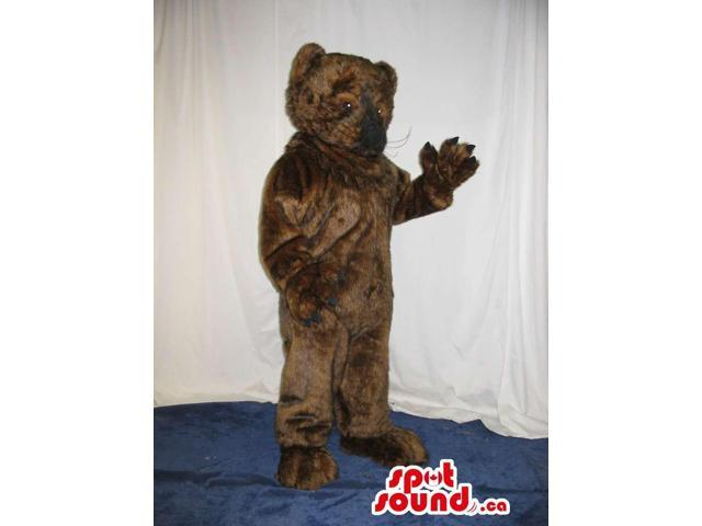 Customised All Dark Brown Bear Forest Plush Canadian SpotSound Mascot