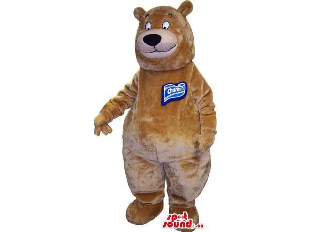 Brown Customised Bear Canadian SpotSound Mascot With Space For Personalized Logos