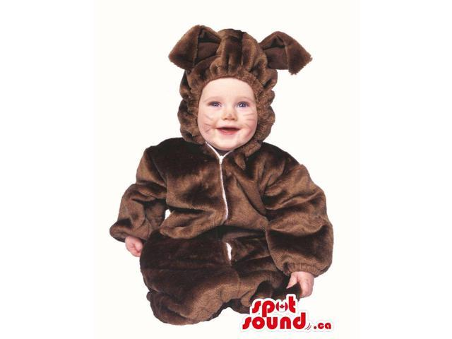 Cute Halloween Brown Rabbit Toddler Child Size Costume Disguise