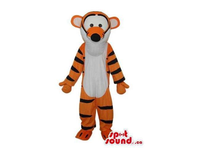 Cute Winnie The Cartoon Tiger Character Plush Canadian SpotSound Mascot