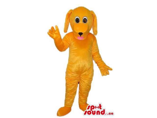 Cute Orange Fairy-Tale Dog Plush Canadian SpotSound Mascot With Long Ears