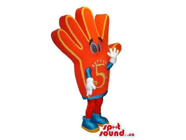 Customised Large Cute Red Give Me Five Hand Canadian SpotSound Mascot