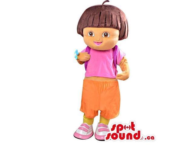Dora The Explorer Well-Known Children'S Tv Series Character Canadian SpotSound Mascot