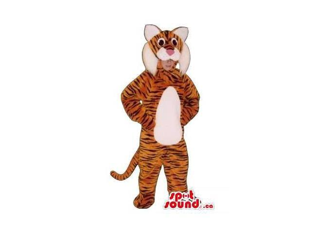 Cool Orange Tiger Children Size Costume Or Disguise
