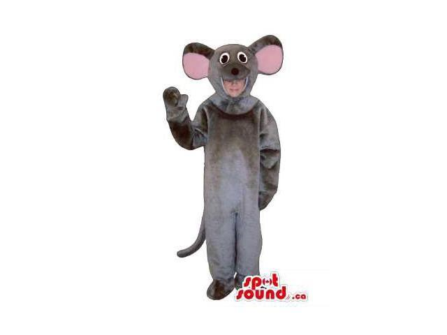 Grey Mouse Children Size Plush Costume Or Disguise