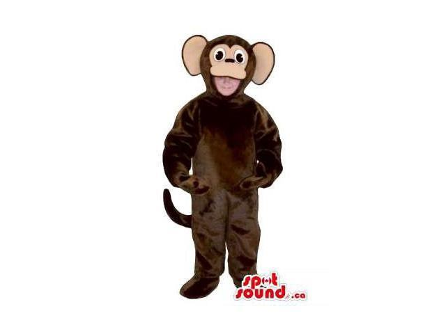 Brown Monkey Children Size Plush Costume Or Disguise
