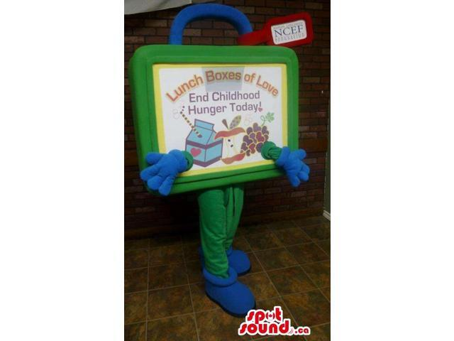 Original Lunch Box Canadian SpotSound Mascot With Blue Gloves And Space For Messages