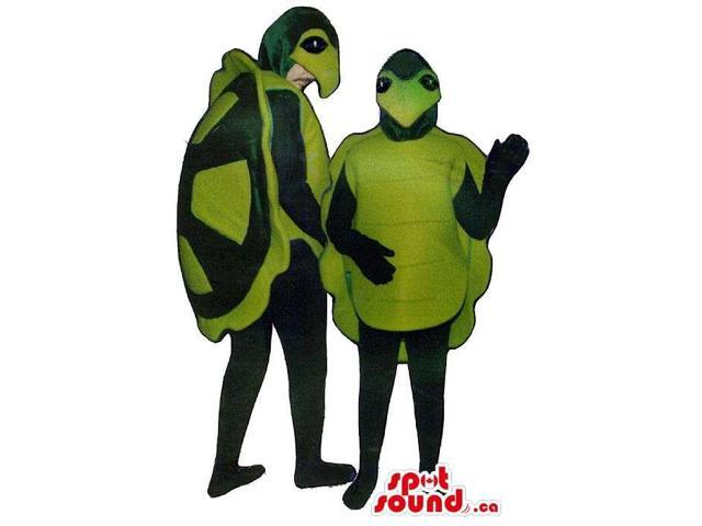 Green Turtle Adult And Children Size Plush Costume