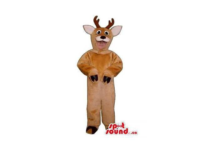 Cute Brown Deer Children Size Plush Costume Or Disguise