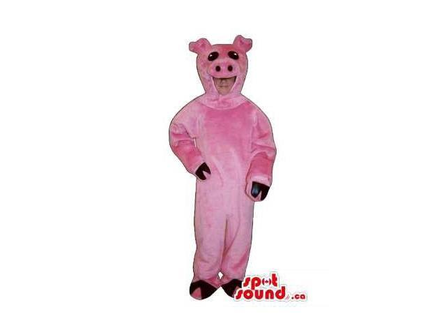 Cute Pink Pig Children Size Plush Costume Or Disguise