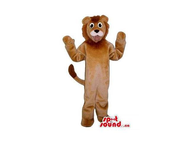 Brown Lion Children Size Plush Costume Or Disguise