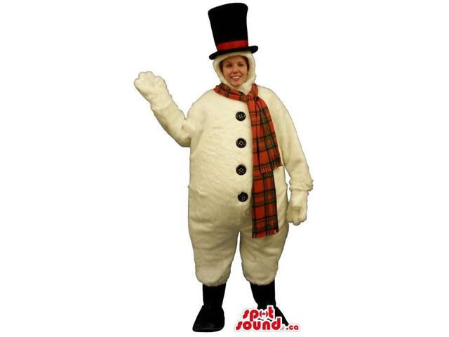 Snowman Christmas Adult Size Costume Or Canadian SpotSound Mascot With A Large Belly