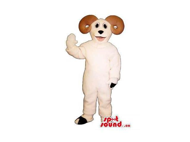 White Goat Children Size Plush Costume Or Disguise