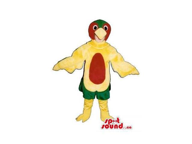 Yellow Parrot Children Size Plush Costume Or Disguise