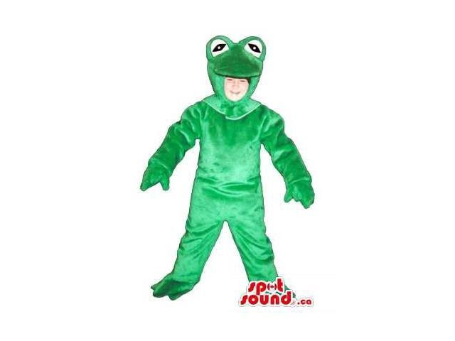 Green Frog Children Size Plush Costume Or Disguise