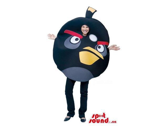 Cute Black Angry Birds Character Adult Size Costume