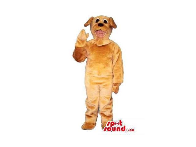 Cute Brown Dog Children Size Plush Costume Or Disguise