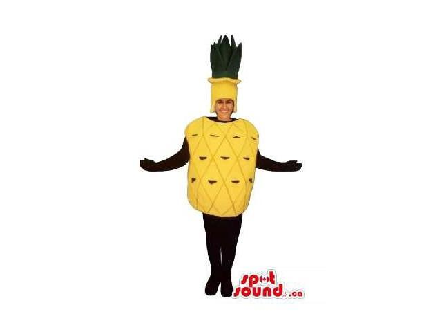 Yellow Pineapple Fruit Adult Size Costume Disguise