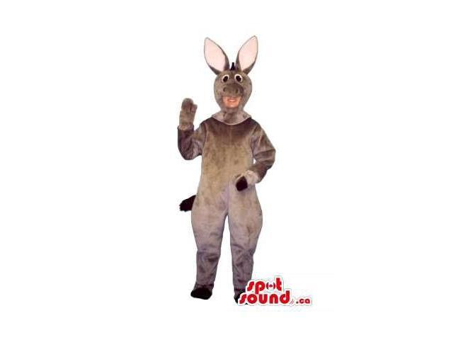 Cute Grey Donkey Children Size Plush Costume Or Disguise